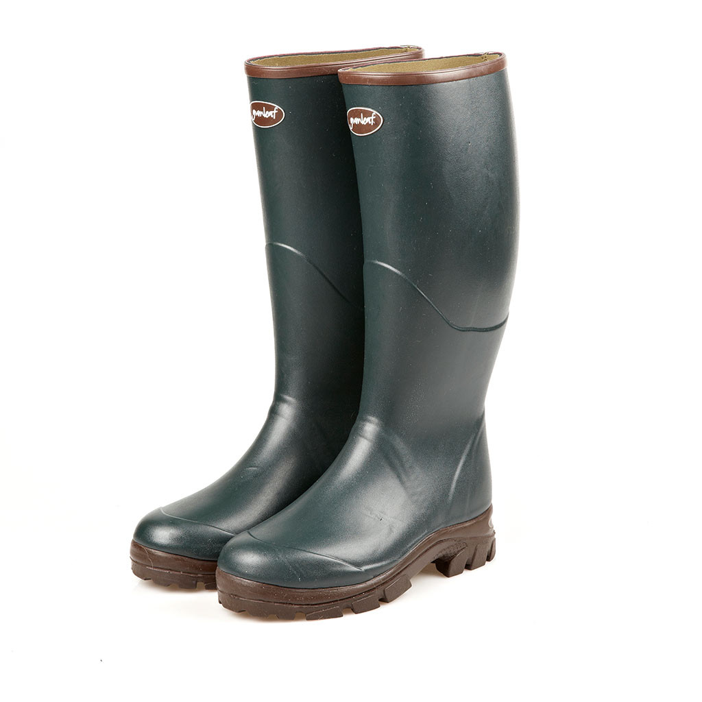 Neoprene Lined Forestry Boots in Hunter Green
