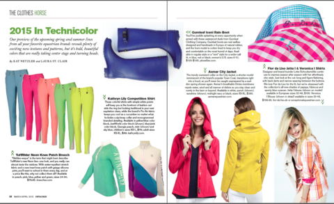 Gumleaf Iceni Boots Featured in UnTACKED March/April 2015 Magazine