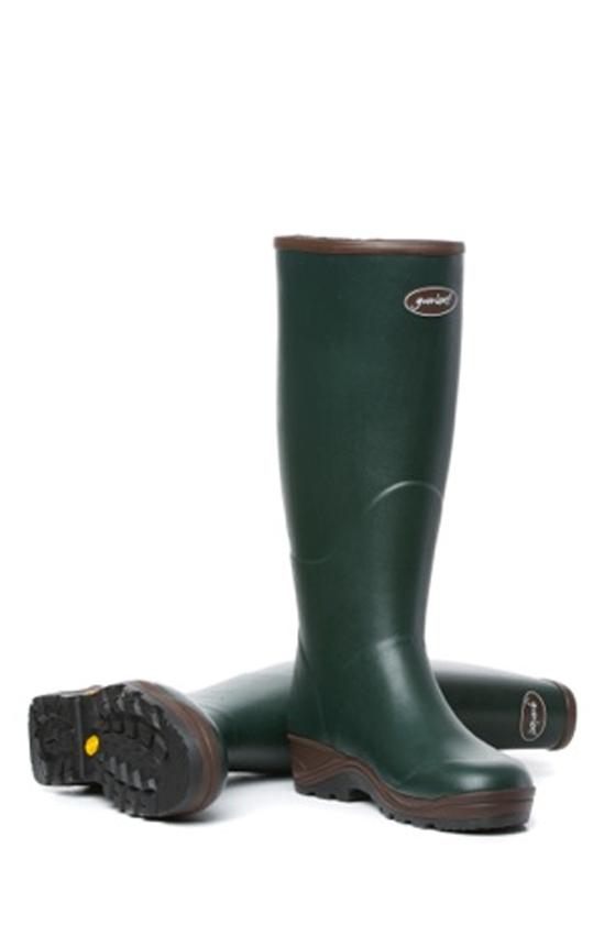 Womens Field Boot Zips in Green