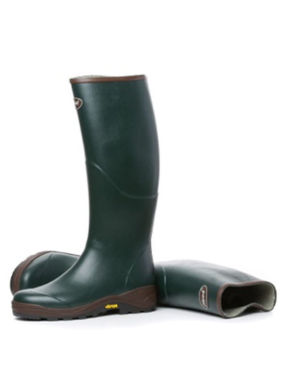 Light Upland Hunting Boots Cotton Lined in Forest Green